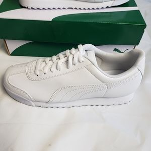 Puma Roma Basic Jr All White Shoes